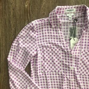 Express Purple and Pink Checkered Portofino